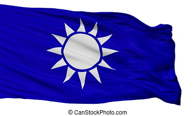 Republic Of China Naval Jack Flag Isolated Seamless Loop -...