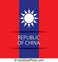 Republic of China text on special background allusive to the...