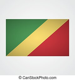 Republic of Congo flag on a gray background. Vector illustration