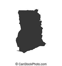 Republic of Ghana map
