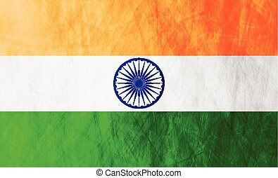 Republic of India grunge flag