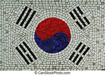 Republic of Korea Flag in Mosaic