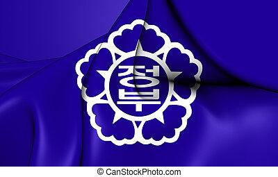 Republic of Korea Government Flag. 3D Illustration.
