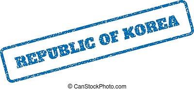Republic Of Korea Rubber Stamp