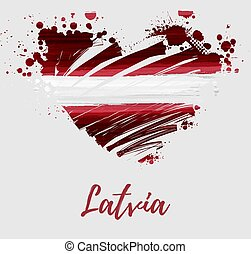 Republic of Latvia flag background - Holiday background with...