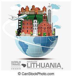 Republic Of Lithuania Landmark Global Travel And Journey Infographic
