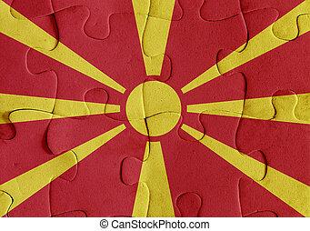 Republic of Macedonia flag puzzle