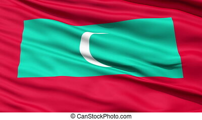 Republic of Maldives Flag - Republic of Maldives waving flag...