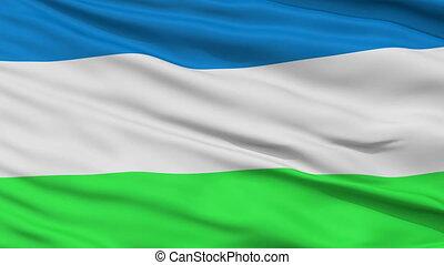 Republic of Molossia Micronation Close Up Waving Flag