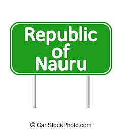 Vector road map of the republic of nauru vectors illustration