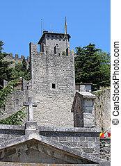 Republic of San Marino fortress Italy