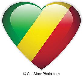 Republic of the Congo flag button
