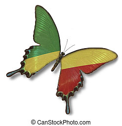 Republic of the Congo flag on butterfly