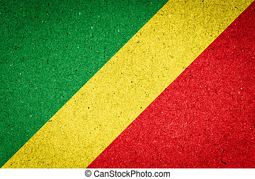 Republic of the Congo flag on paper background