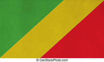 Republic of the Congo flag texture with seam