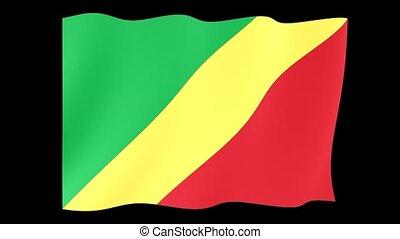 Republic-of-the-Congo-flag . Waving