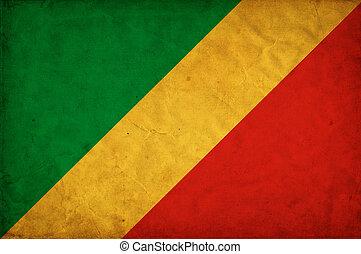Republic of the Congo grunge flag