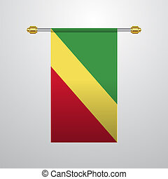 Republic of the Congo hanging Flag