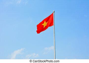 Republic of Vietnam flag winding in the wind