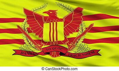 Republic Of Vietnam Military Forces Flag Closeup Seamless...