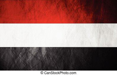 Republic of Yemen grunge flag