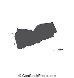 Republic of Yemen map silhouette