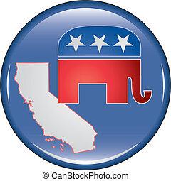 Republican California Button