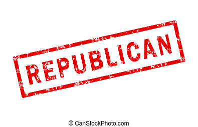 Republican - A grunge stamp of the word republican