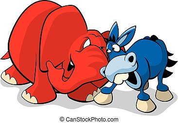 Republican Democrat - A vector illustration of the Democrat...