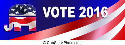 Republican election Sticker for 2016 - Republican bumper...