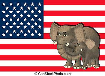 Republican Elephant Family