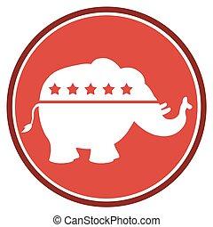 Elephant Red Circle Label