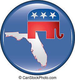 Republican Florida Button