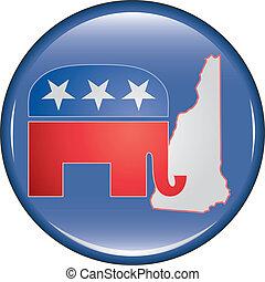 Republican New Hampshire Button