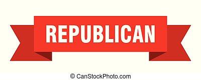 republican ribbon. republican isolated sign. republican ...