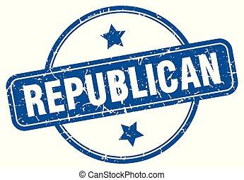republican round grunge isolated stamp