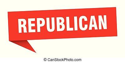 republican speech bubble. republican sign. republican banner