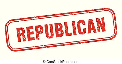 republican stamp. republican square grunge sign. republican