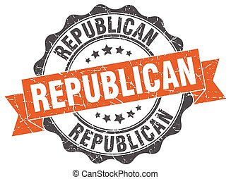 republican stamp. sign. seal