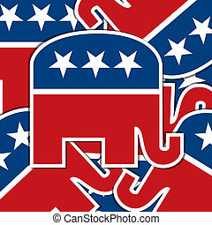 Republican sticker scatter American election card/poster in vector format.