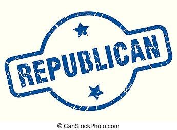 republican vintage stamp. republican sign