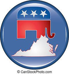 Republican Virginia Button