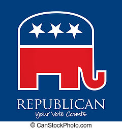 """""""Republican Your Vote Counts"""" election card/poster in vector format."""