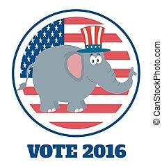republicano, carácter, elefante