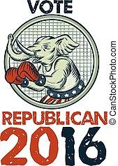 republicano, cauterizando, pugilista, elefante, voto, 2016