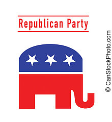 republicano, fiesta, elefante