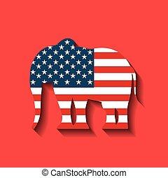 republicano, partido político, animal