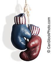 republicanos, y, demócratas, en, el, campaña