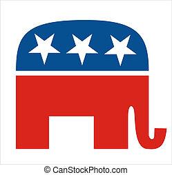 republicans - very big size republicans party elephant...