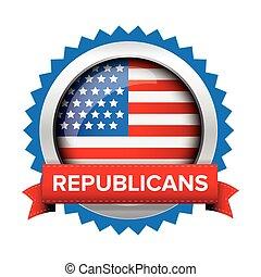 Republicans election badge